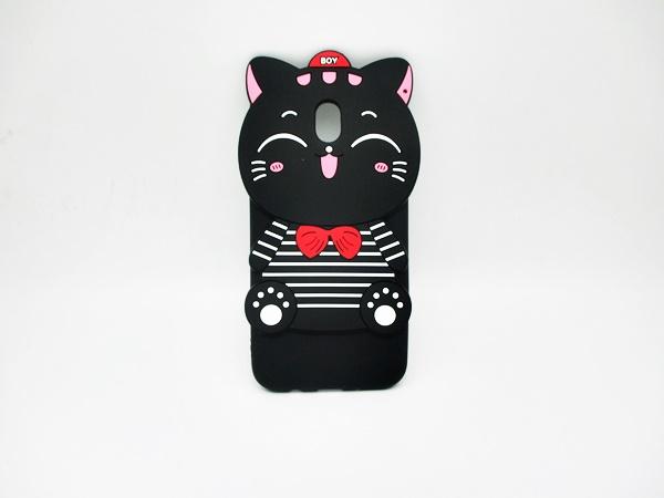 ซัมซุง (J7 Pro) เคสยาง 3Dแมวดำ