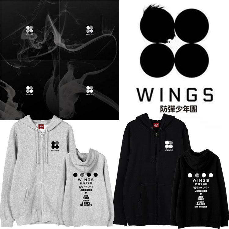 เสื้อฮู้ดซิปหน้า (Hoodie) BTS WINGS
