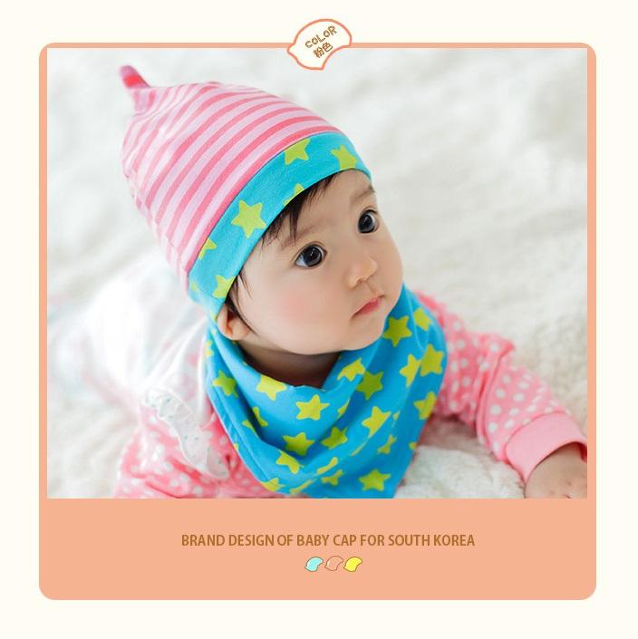 หมวกสีชมพูพร้อมผ้าพันคอ แพ็ค 3 ชิ้น