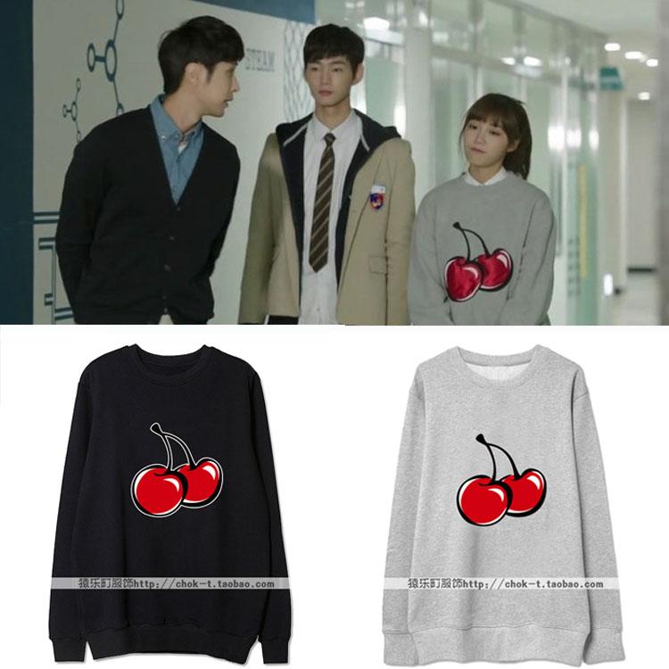 เสื้อแขนยาวกันหนาว (Sweater) ลายเชอรี่ แบบ Eunji