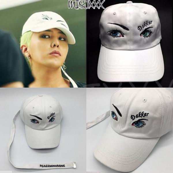 หมวกแฟชั่นเกาหลี หมวกเบสบอล GD BIGBANG สีขาว