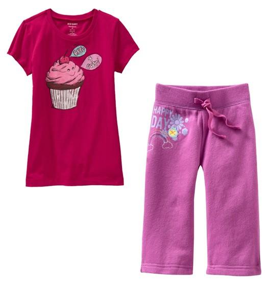 PJA013 เสื้อผ้าเด็ก ชุดลำลอง แนวสปอร์ต ลายคัพเค้ก baby Gap Made in Malasia งานส่งออก USA Size 80/90/95/110