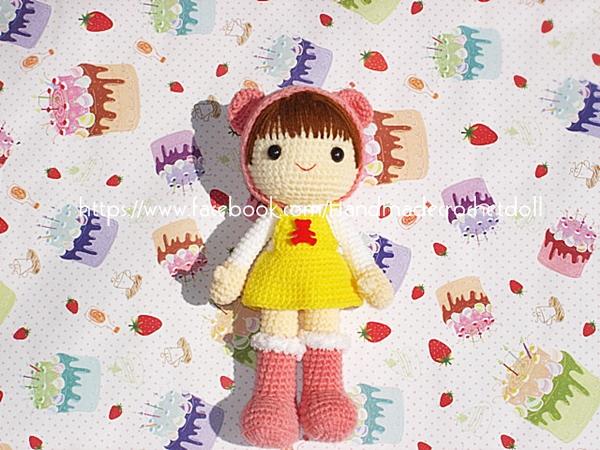 ตุ๊กตาถักไหมพรม คน 10 นิ้ว