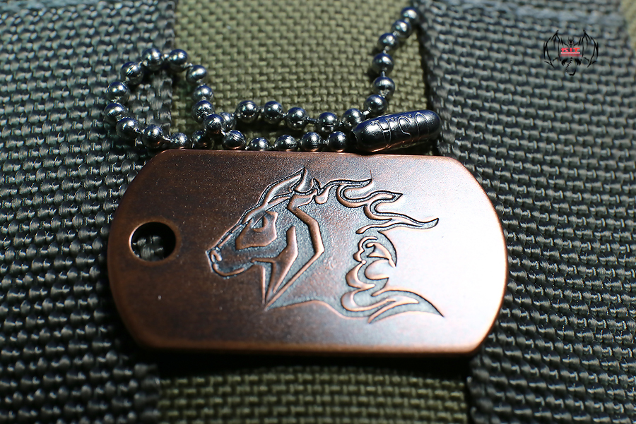 Steel Flame Hinderer Dog Tag