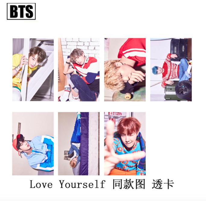 ชุดการ์ด #BTS 2017 Love Yourself