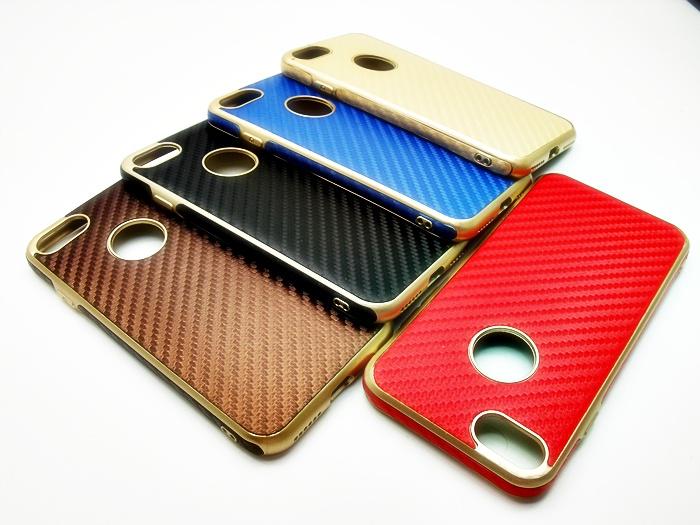 เคส tpu เคฟล่า แต่งขอบทอง Iphone 7 4.7 นิ้ว