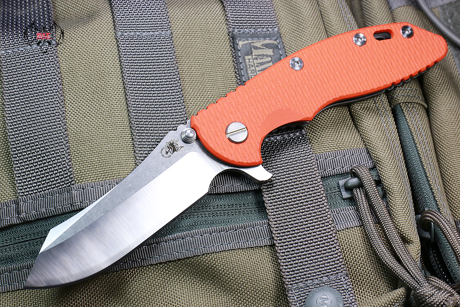 "RHK XM18 3.5"" Skinner 2-Tone Satin Blade Orange G-10"