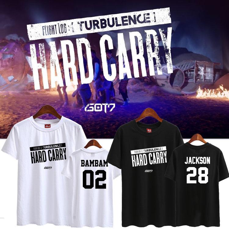เสื้อยืด (T-Shirt) GOT7 Hard Carry (ชื่อเมมเบอร์)