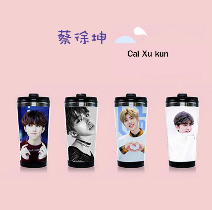 กระบอกน้ำสเตนเลส Cai Xu Kun - Idol Producer