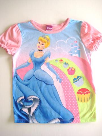 CT015 Disney Princess เสื้อผ้าการ์ตูนดัง เสื้อยืดแขนสั้น Size 5T