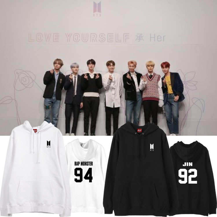 เสื้อฮู้ด (Hoodie) BTS Love Yourself (ชื่อเมมเบอร์)
