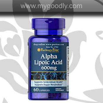 ALA - Puritan Alpha Lipoic Acid 600 mg (ตัวเร่งขาว) 1 ขวด 60 แคปซูล ราคา 600 บาท