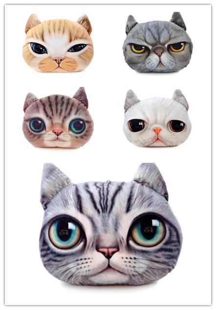 (พร้อมส่ง) หมอนหน้าน้องแมว 3 มิติ (50*40 cm.)
