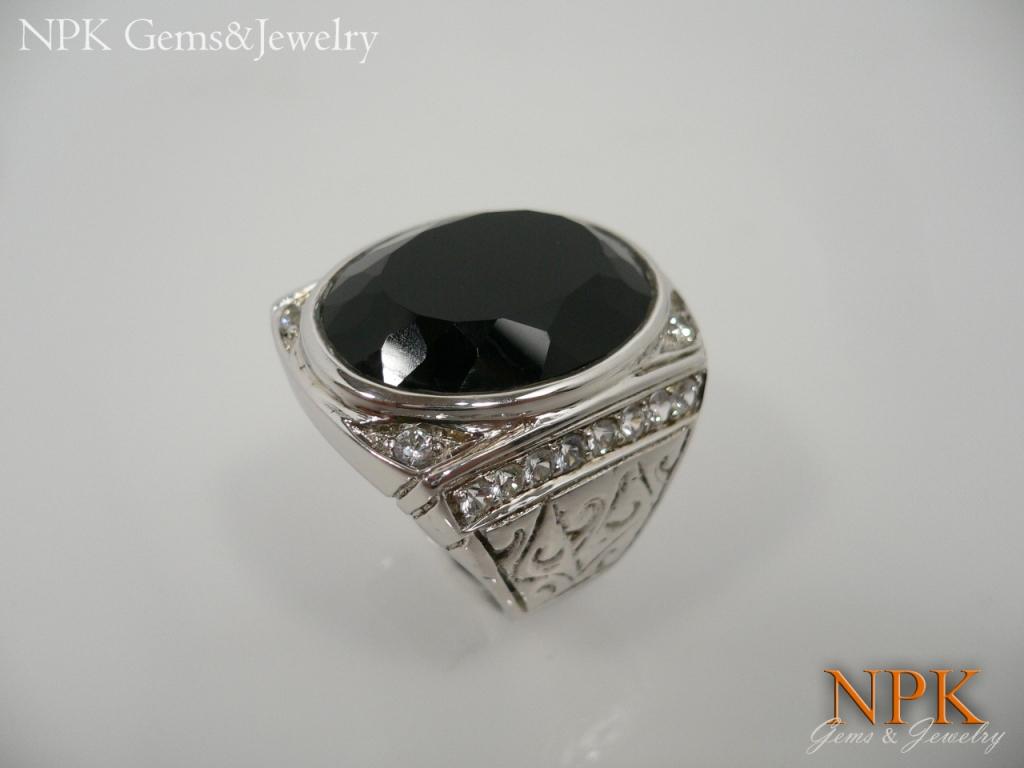 แหวนเงินนิล(Silver ring onyx)