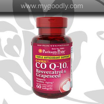 coq10 resveratrol + grape seed 3 ใน 1เม็ด สุดคุ้ม ราคา 950 บาท