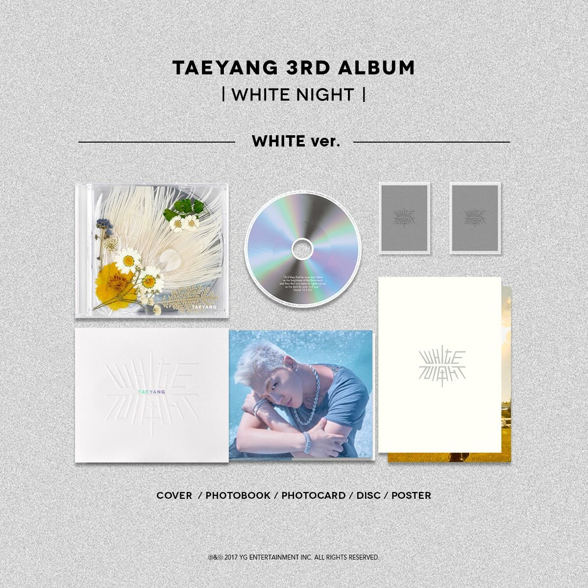 อัลบั้ม #TAEYANG - TAEYANG 3RD ALBUM [WHITE NIGHT] : WHITE VER.