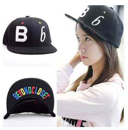 หมวกแฟชั่น SNSD B b สีดำ