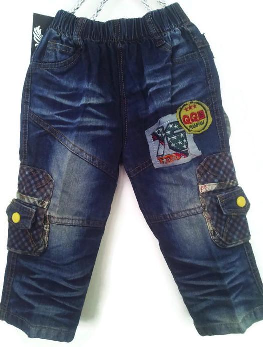 J1085 กางเกงยีนส์เด็กชาย ดีไซส์ลายปักเท่ห์ทั้งด้านหน้า-หลัง เอวยางยืด Size 4-6 ขวบ ขายปลีกในราคาส่งให้เลยจ้า