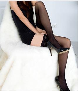 [พร้อมส่ง] P6867 ถุงน่องขอบลูกไม้ ครึ่งขา สุดเซ็กซี่ Sexy