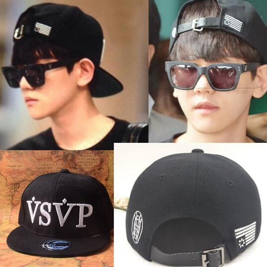 หมวกแฟชั่น EXO BAEKHYUN. สีดำ VSVP REAL