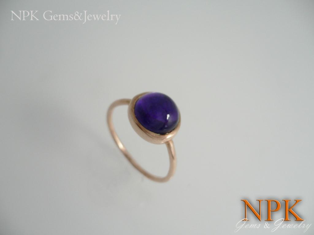 แหวนเงินอเมทิสต์(Silver ring amethyst)