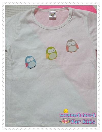 เสื้อยืดเด็ก ลายนกฮูก แบบที่ 3 Size S