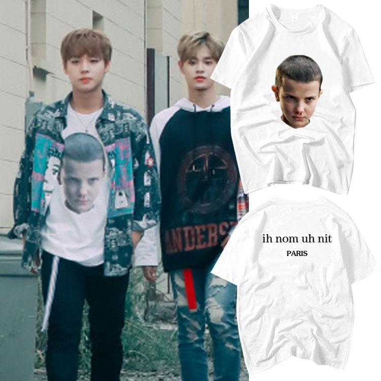 เสื้อยืด (T-Shirt) สกรีนลายหน้าเด็ก แบบ Jihoon WANNA ONE