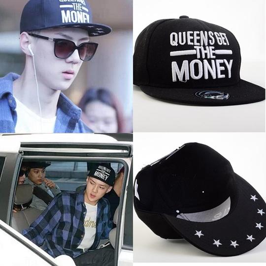 หมวกแฟชั่น EXO SEHUN I'AMONONE สีดำ