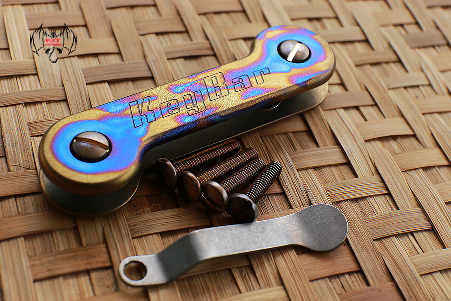 Key Bar Fuel Anodized Treated Titanium