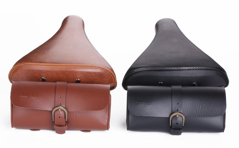 กระเป๋าหนังวินเทจ สำหรับจักรยาน IRON JIA'S PU Saddle bag รุ่น V017