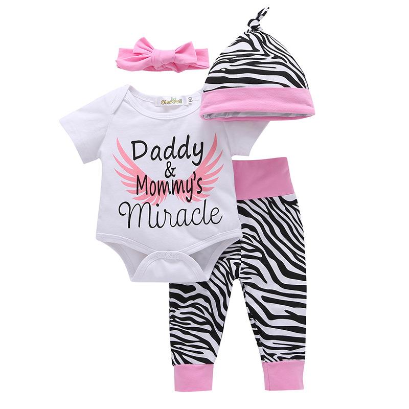 ชุดเซต 4 ชิ้นลาย daddy&mommy's miracle แพ็ค 4 ชุด [size 3m-6m-1y-2y]