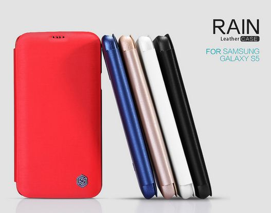Case Samsung Galaxy S5 >> Nillkin Rain Series Leather