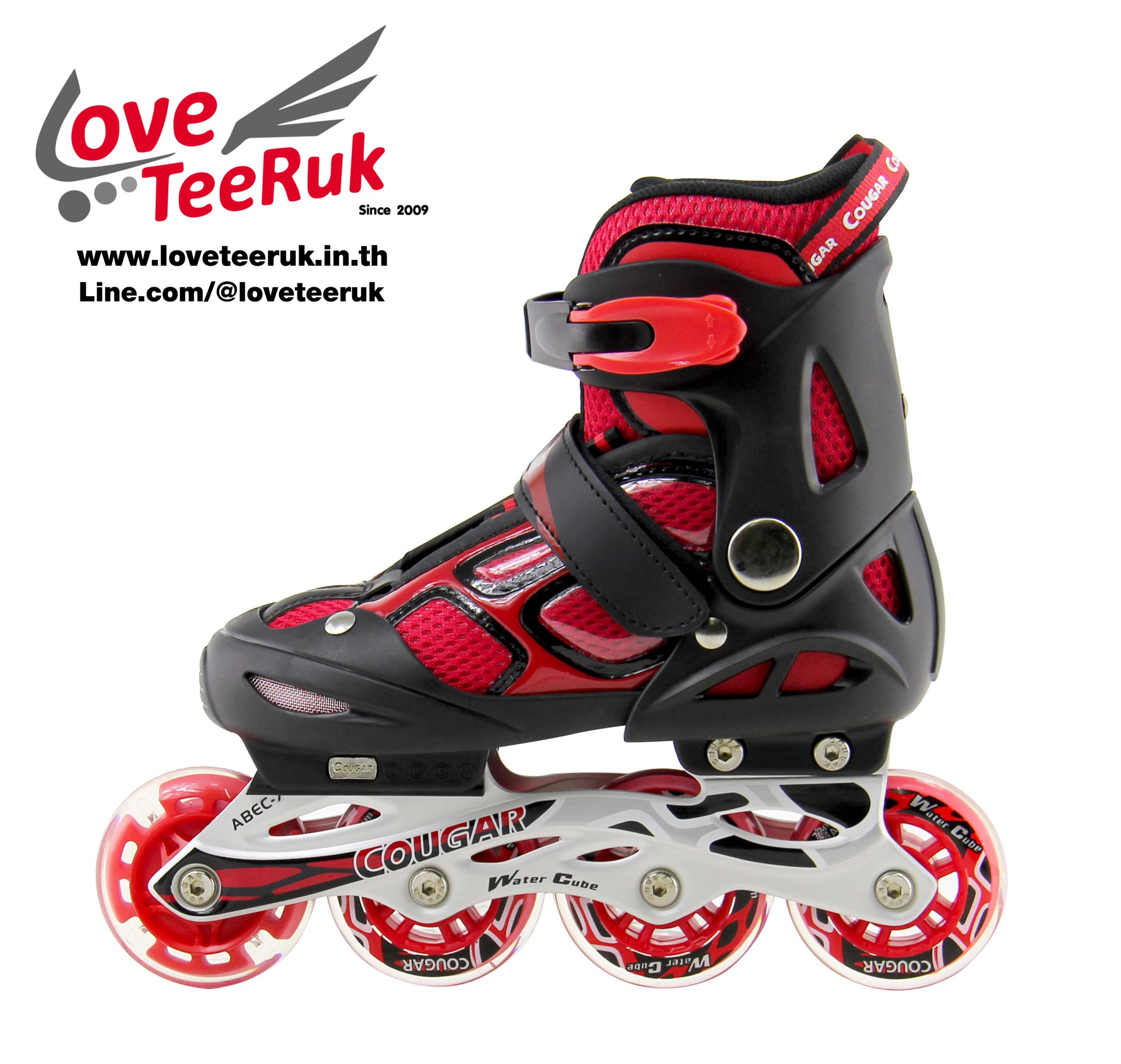 รองเท้าสเก็ต rollerblade รุ่น MOR สีแดง-ดำ ไซส์ M