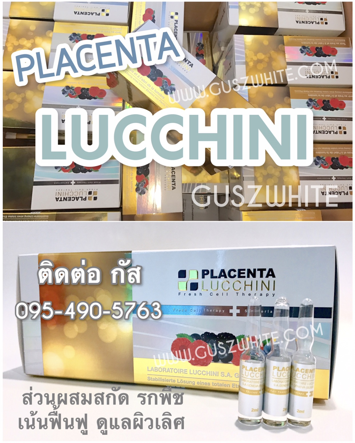 NEW Lucchini Plant Placenta (Switzerland) รกพืช-เข้มข้น