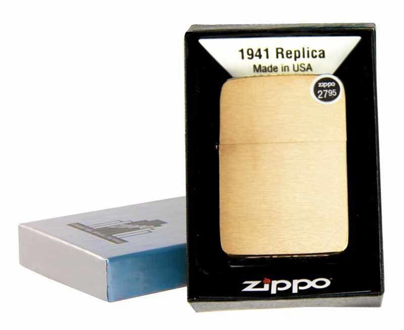 """ไฟแช็ค Zippo แท้ """" Zippo 1941 Replica™ Brushed Brass """" แท้นำเข้า 100%"""