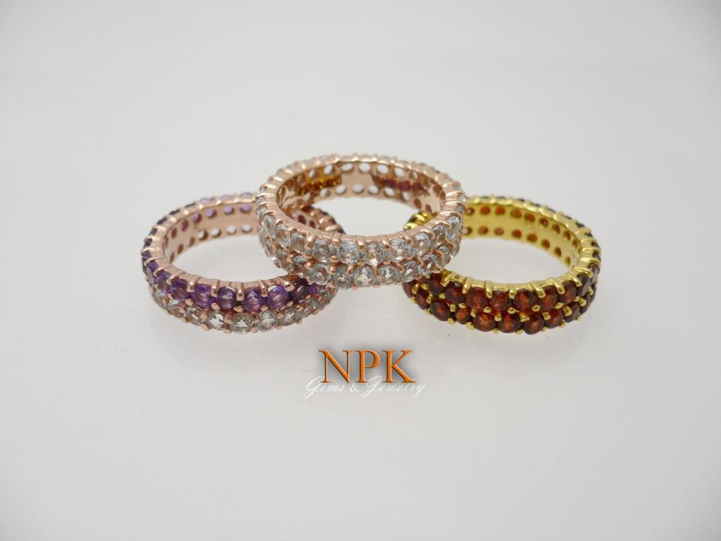 แหวนล้อมพลอยแฟนซี (Fancy Stone Silver Ring)