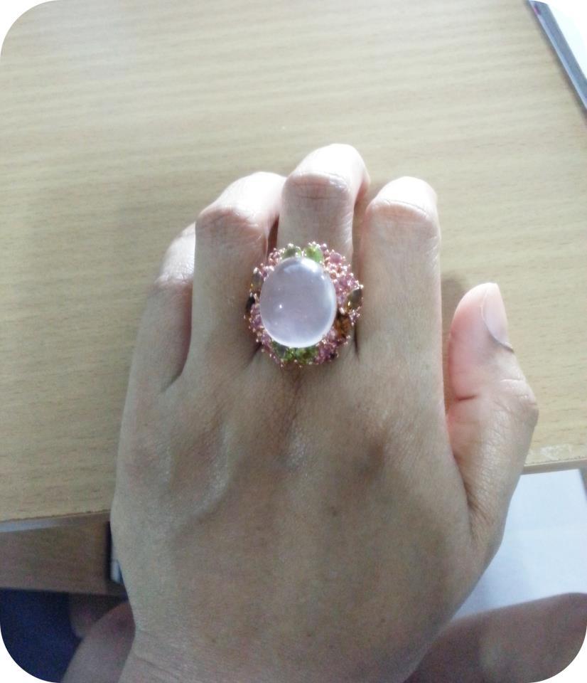 Review แหวนโรสควอตซ์ Silver ring rose quartz
