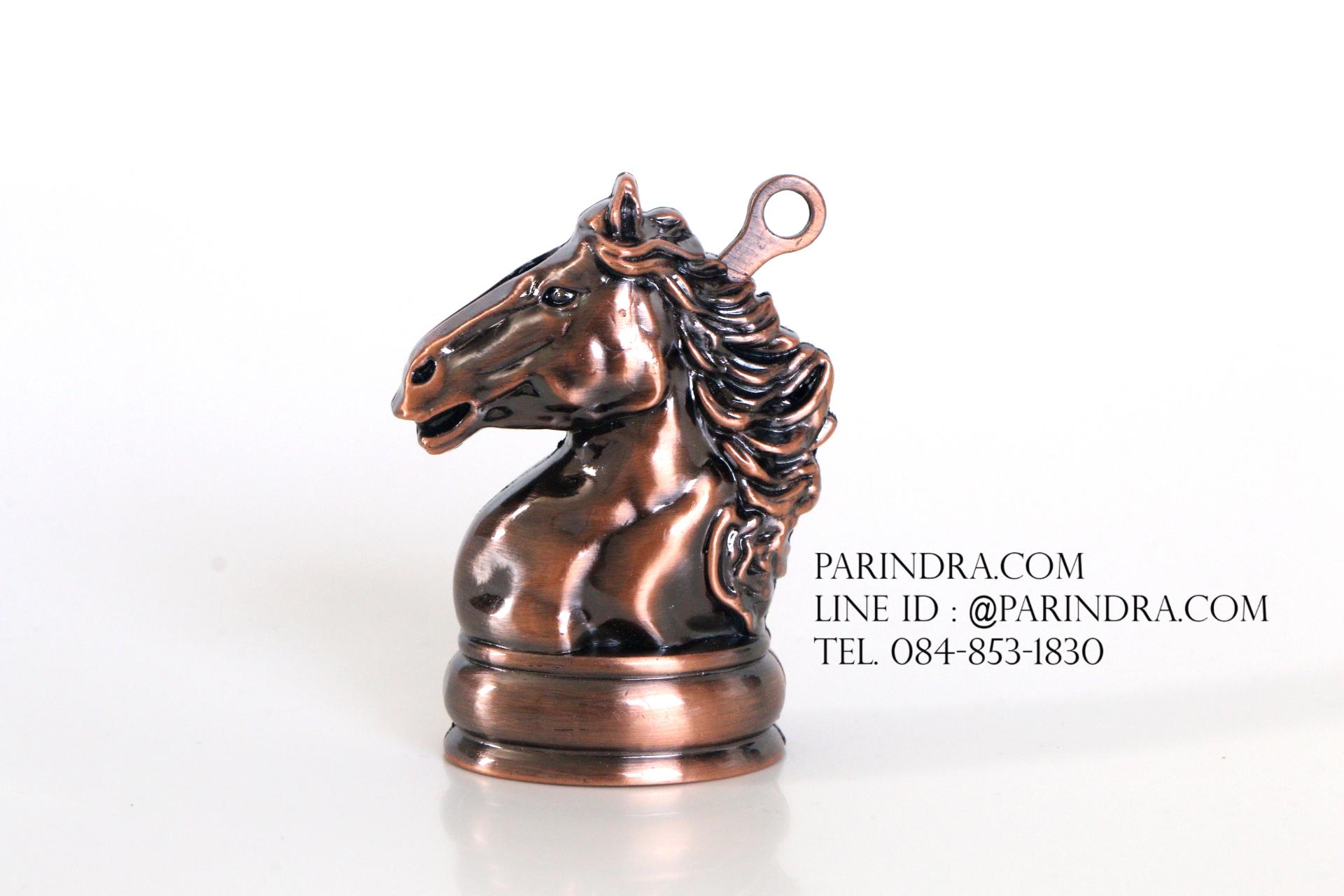 ไฟแช็คแก็ส แฟนซี chess รูปทรงหัวม้า สีทองแดง ตัวหมากรุกม้า ไฟธรรมดา