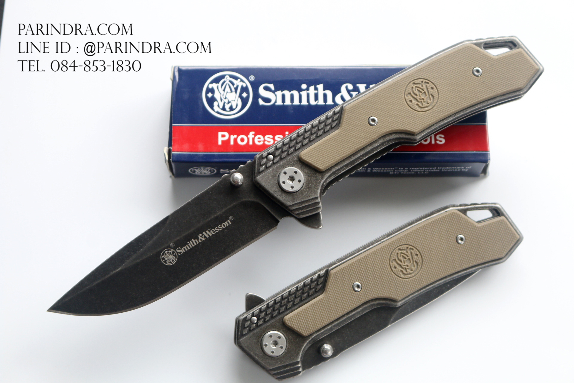 มีดพับ Smith & Wesson SW609 Stone Washed (OEM)