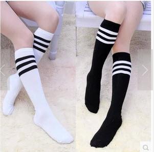 [พร้อมส่ง] HS5431ถุงเท้านักเรียนญี่ปุ่น แบบครึ่งขา แบบลายคาด Japan High School Sock