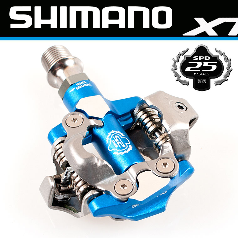 บันใดชิมาโน่ XTR, PD-M990, สีฟ้า, รุ่นลิมิทอีดิชั่น, พร้อมคลีท, ไม่มีทับทิม, มีกล่อง (JAPAN)