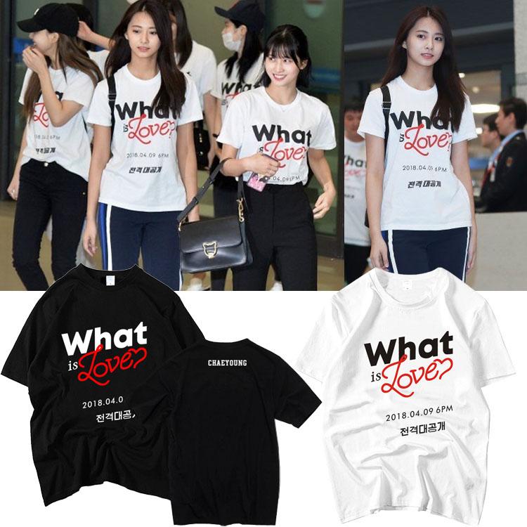 เสื้อยืด (T-Shirt) TWICE - What is Love (ชื่อเมมเบอร์)