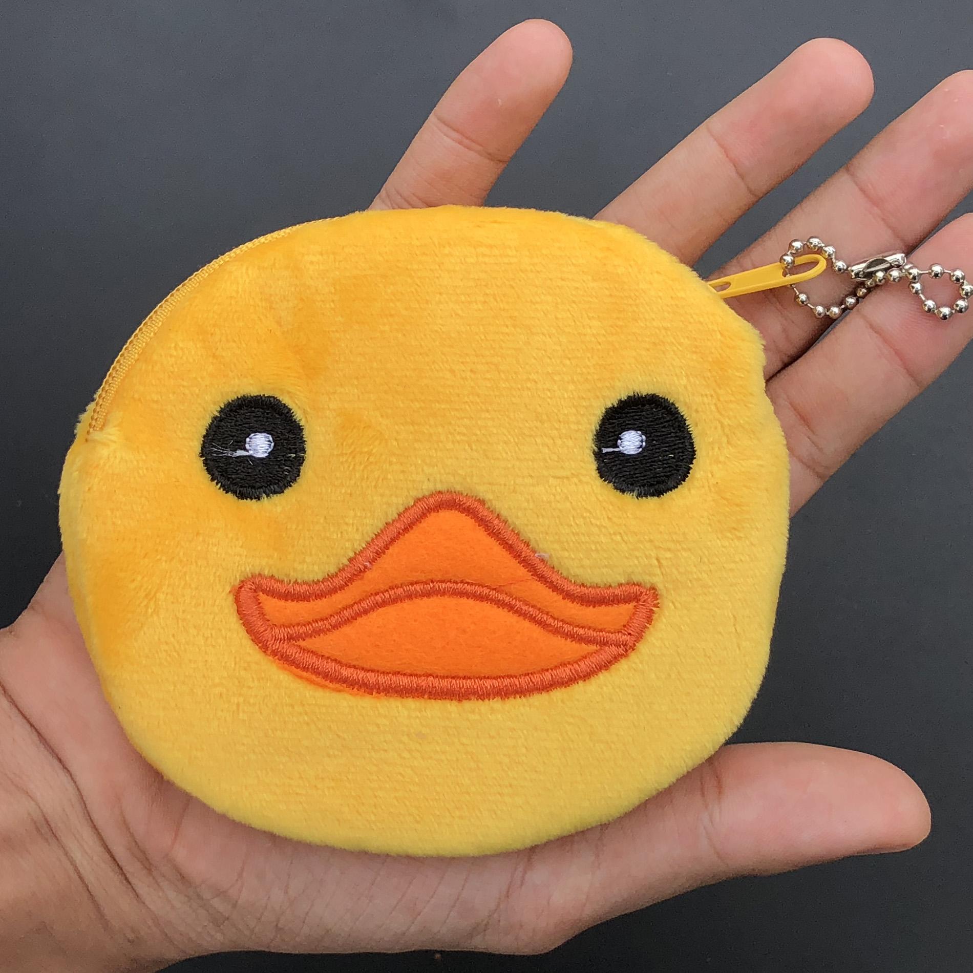 กระเป๋าใส่เหรียญ น่ารัก ขนาดกลาง เป็ดยิ้ม