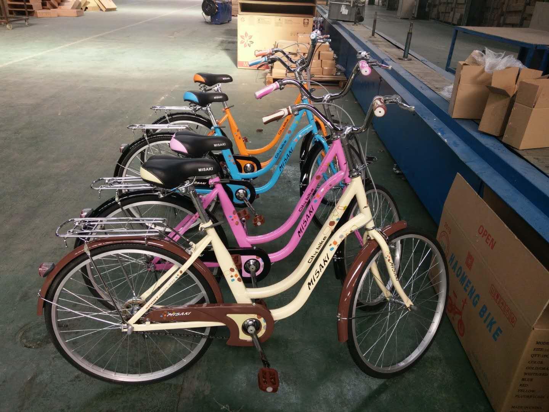 จักรยานแม่บ้าน MISAKI A2401 ไม่มีเกียร์ ล้อ 24นิ้ว พร้อมตะกร้าหน้า
