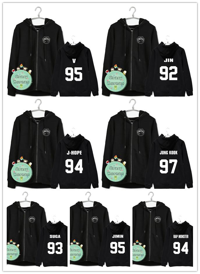 เสื้อฮู้ดซิปหน้า BTS (เมมเบอร์)