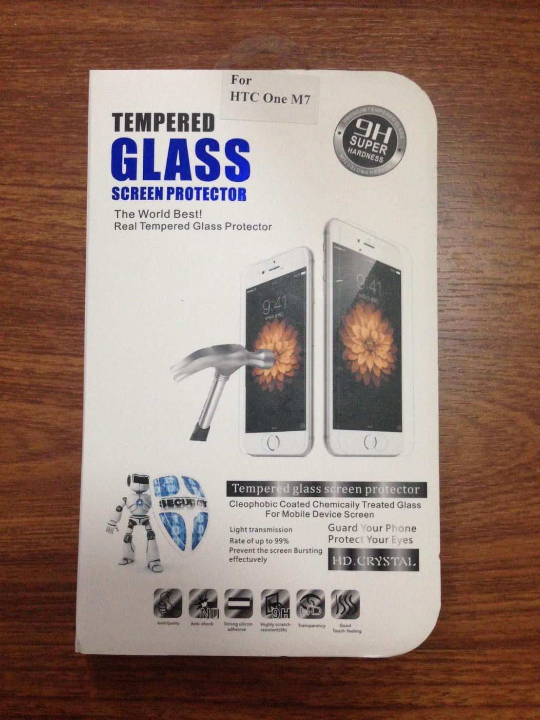 ฟิล์มกระจกนิรภัย HTC One M7 (Temper Glass) ไม่เต็มจอ