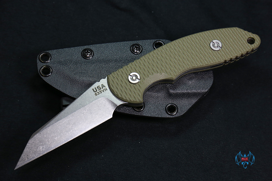 Hinderer FXM 3.5 FIXED BLADE WHARNCLIFF OD Green G-10 W/SHEATH