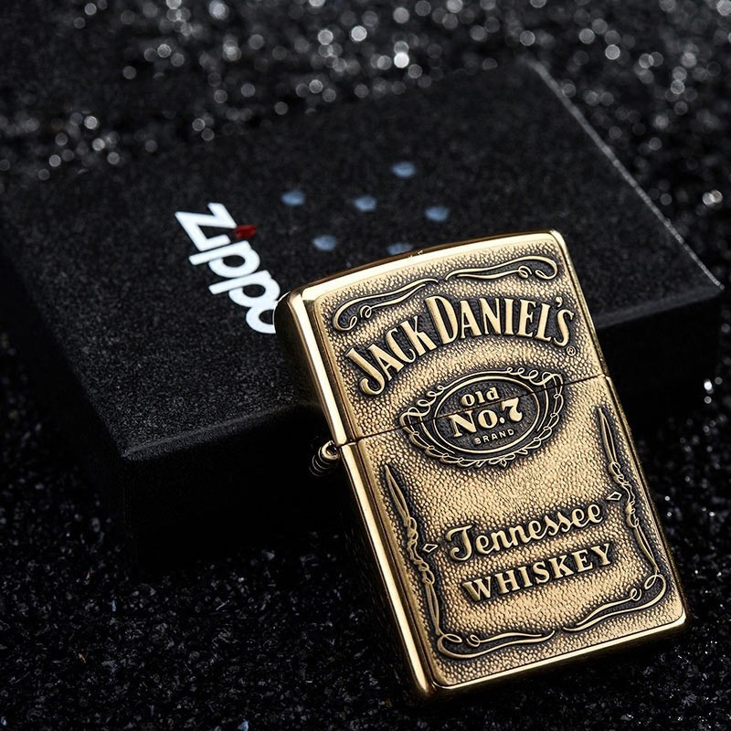 ไฟแช็ค Zippo แท้ Zippo 254BJD Jack daniel's Emblem USA Import แท้นำเข้า 100%