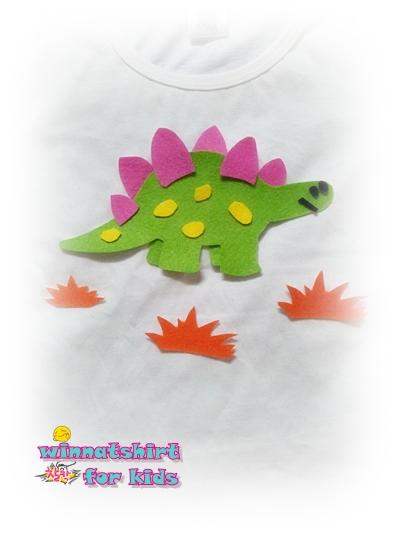เสื้อยืดเด็ก ลายไดโนเสาร์สีเขียว Size M