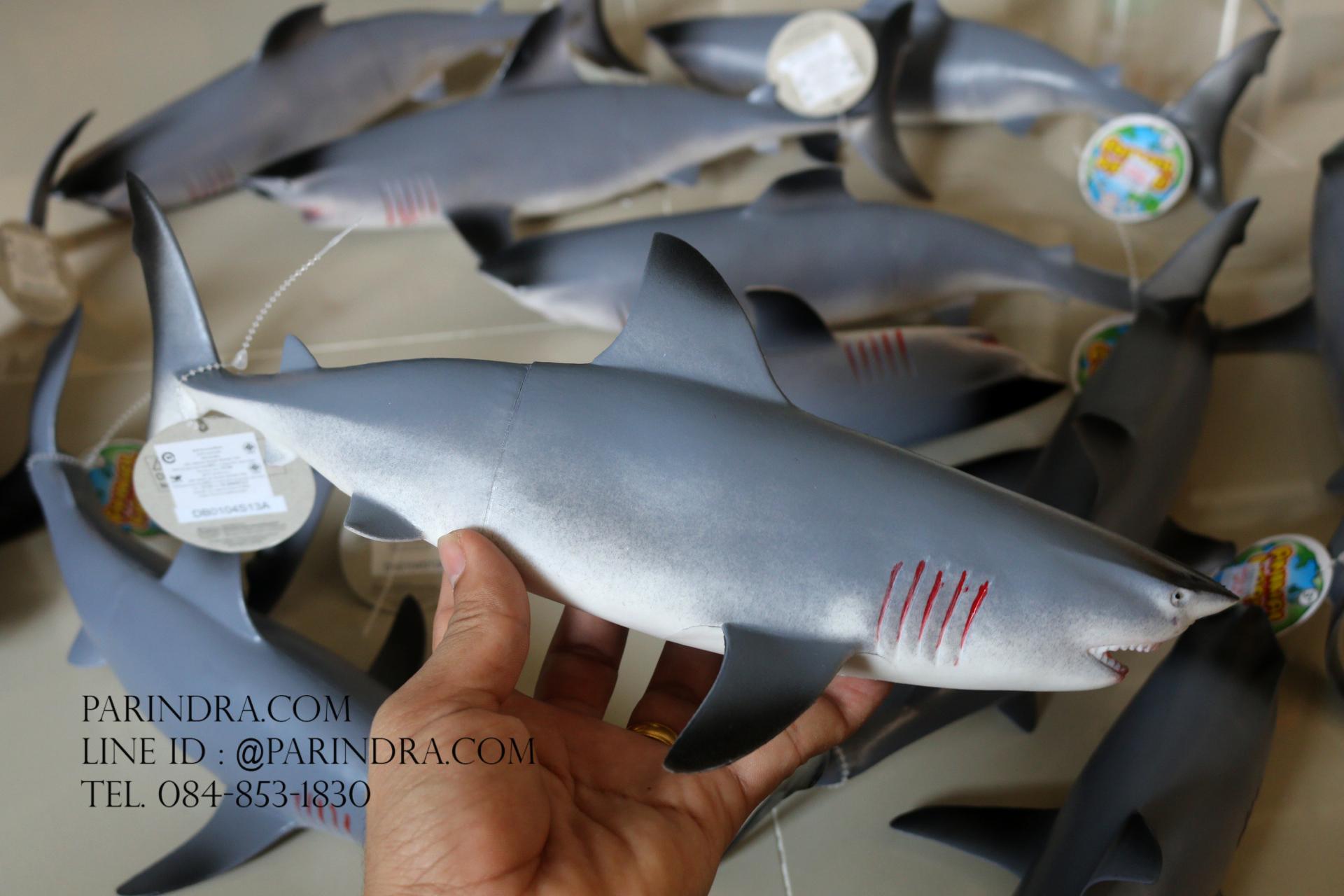 โมเดลปลาฉลาม Shark แบบยางอ่อนนุ่มนิ่ม ตั้งโชว์สวย ขนาดใหญ่ 14 นิ้ว